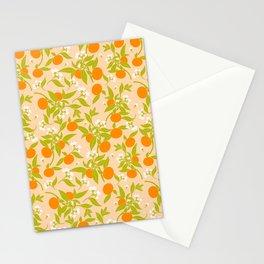 Orange Blossom Print Stationery Cards