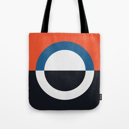 Blue and red composition XXIV Tote Bag