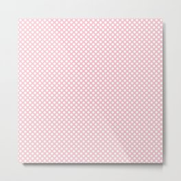Rose Shadow and White Polka Dots Metal Print