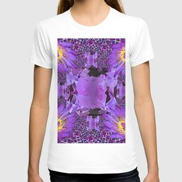 EXOTIC AMETHYST FEBRUARY  FLORAL FANTASY  ABSTRACT T-shirt