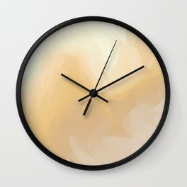 Golden Waves of Sunshine Wall Clock