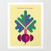 vegetable Art Prints featuring Vegetable: Beetroot by Christopher Dina