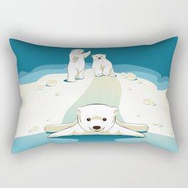 Polar bear cubs Rectangular Pillow