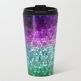 Rainbow Mosaic Stained Glass Travel Mug