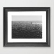 one if by lake Framed Art Print
