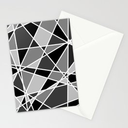 Shattered Charcoal Stationery Cards