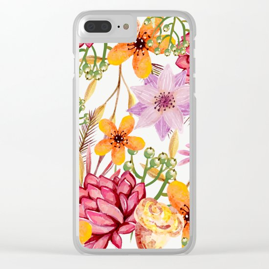 Flowers -a11 Clear iPhone Case