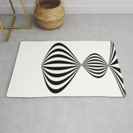 Fractal Wave Abstract Lines Rug