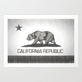 California Republic state flag Art Print