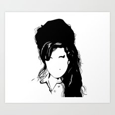Amy back to just black Art Print