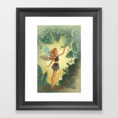 Goblins Drool, Fairies Rule! - Morning Dew Framed Art Print