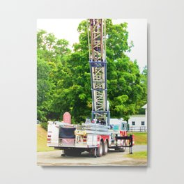 Fire Rescue Truck Metal Print