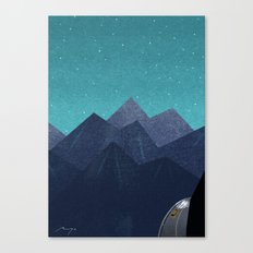Mountain path at night Canvas Print