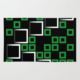 Abstract composition with squares Rug