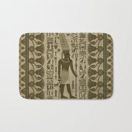 Egyptian Amun Ra - Amun Re Ornament Bath Mat