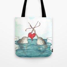 Knitting Narwhals Tote Bag