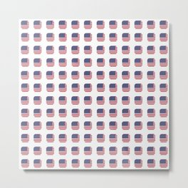 flag of usa- with soft square Metal Print