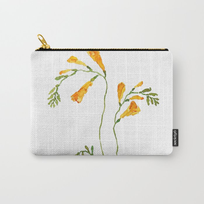 orange freesia watercolor Carry-All Pouch