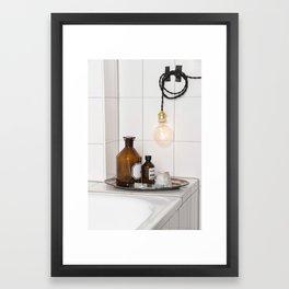 White Tiles  Framed Art Print