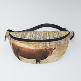Cow in aspens Fanny Pack