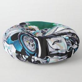 "Lewis Hamilton ""Focus On Lewis"" Floor Pillow"