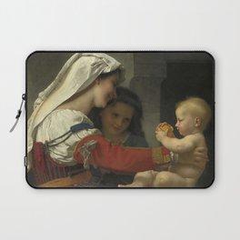 "William-Adolphe Bouguereau ""Admiration maternelle - le bain"" Laptop Sleeve"