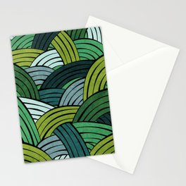 Lines - Green Stationery Cards
