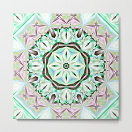 Mandala with fantasy flower and tribal patterns Metal Print