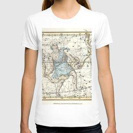 Constellations Ophiuchus and Serpents, Celestial Atlas Plate 9, Alexander Jamieson T-shirt