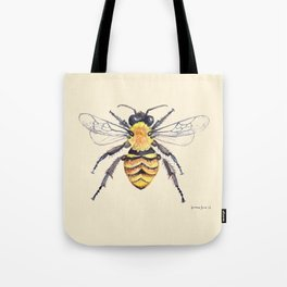 Watercolor Bee Tote Bag
