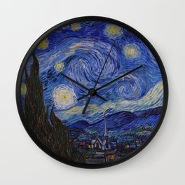 The Starry Night by Vincent van Gogh (1889) Wall Clock