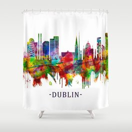 Dublin Republic of Ireland Skyline Shower Curtain