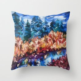 Fall in Rockies Throw Pillow