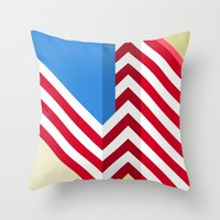 flag Throw Pillows featuring Flag by Ryan Winters