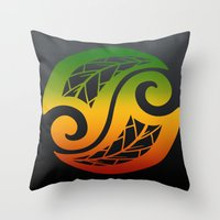 reggae Throw Pillows featuring Reggae Poloneisan by Lonica Photography & Poly Designs