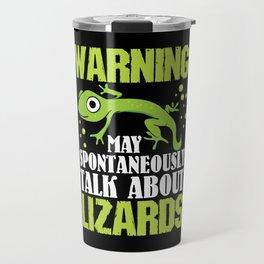 Bearded Dragon T Shirt I lizard gecko iguana gift Travel Mug
