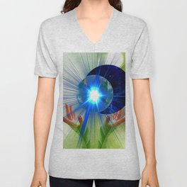 Cosmic Energy Vibrations Unisex V-Neck