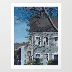 Sunshine on Antique Homes Art Print
