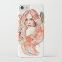 karen hallion iPhone & iPod Cases featuring Karen Gillan by jassinta