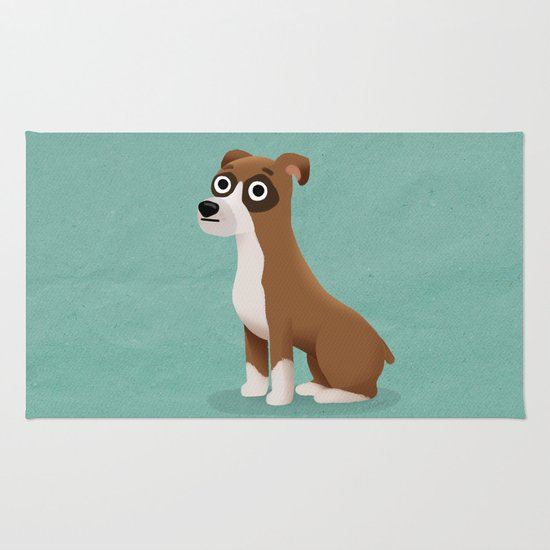 Boxer - Cute Dog Series Rug