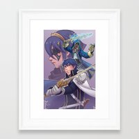 fire emblem awakening Framed Art Prints featuring Fire Emblem Awakening by Kelly Kao