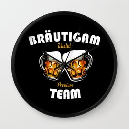 Bachelor Party Team Braeutigam Wall Clock