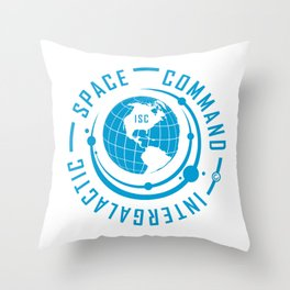 Intergalactic Space Command Logo 1 Throw Pillow