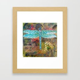 Dragonfly, Mixed Medisa Framed Art Print