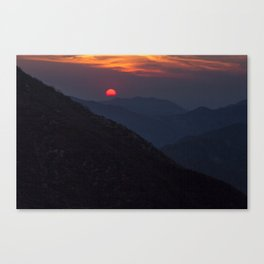 Sunset over the San Gabriels Canvas Print
