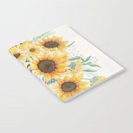 Loose Watercolor Sunflowers Notebook