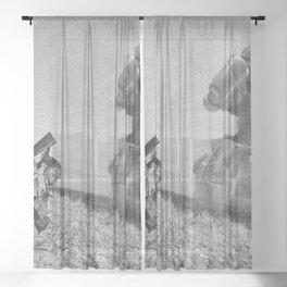 The Falling Soldier 2 Sheer Curtain