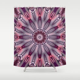 Feathered Mandala Shower Curtain