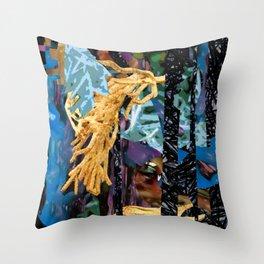 Surreal-Real Textures Throw Pillow