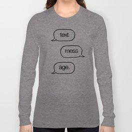 Text Message Hand Drawn Pop Art Print Long Sleeve T-shirt